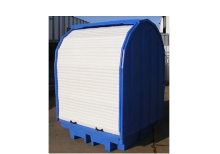 Box en polyethylene pour fûts