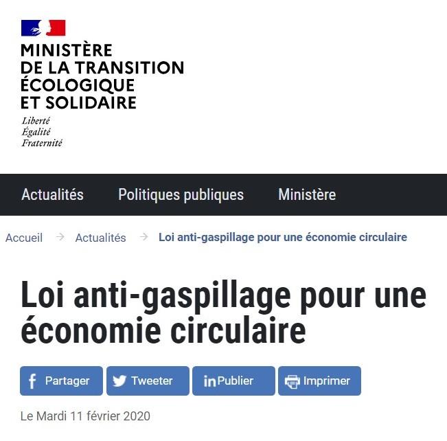 anti gaspillage économie circulaire
